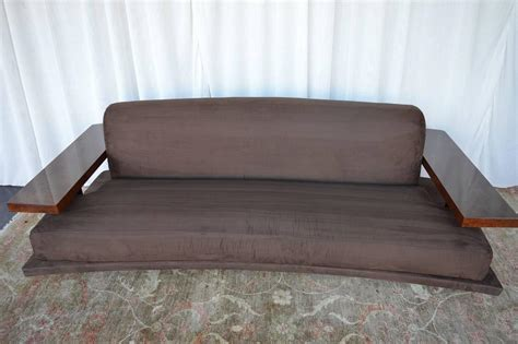 suede sofas for sale american art deco suede sofa for sale at 1stdibs