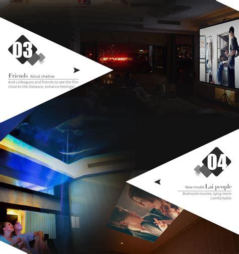 Home Theater Yg Bagus yg 400 1000 lumens portable mini led projector 1080p home