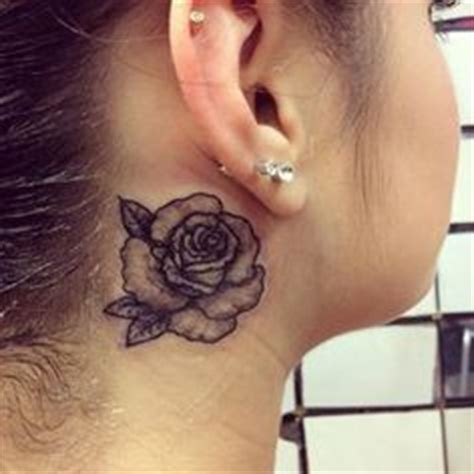 rose tattoo behind ear purple roses purple rose tattoos and rose tattoos on