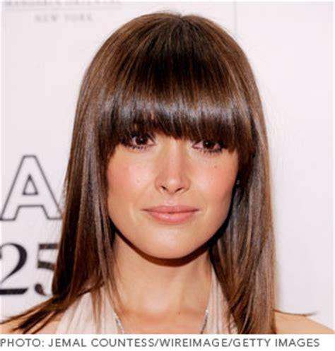 oval face full fringe the best bangs for your face shape beautylish