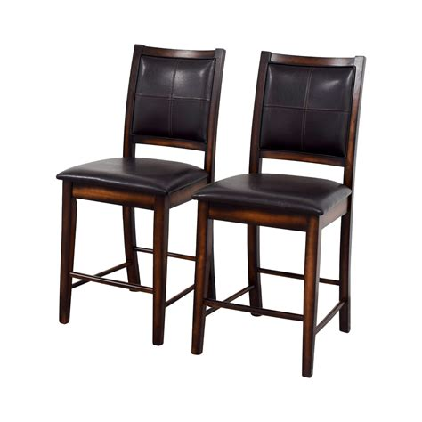 Second Bar Stools For Sale by 71 Brown Leather Counter Stools Chairs