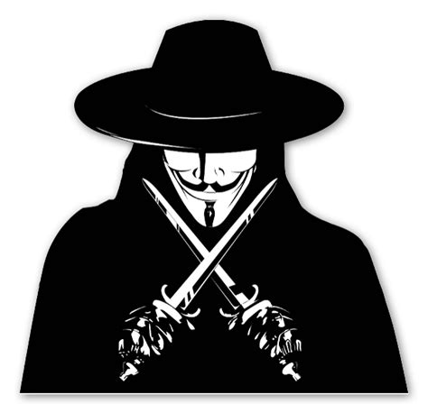 v for vendetta sticker stickerapp