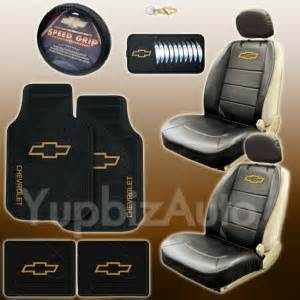 new 9pc chevy logo car truck seat covers floor mats set ebay