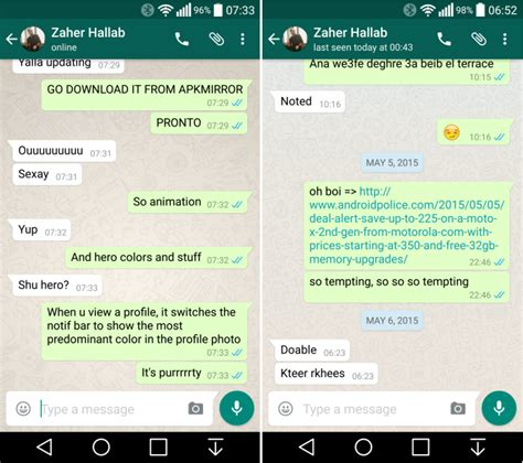 whatsapp chat themes download new whatsapp beta released features improved material