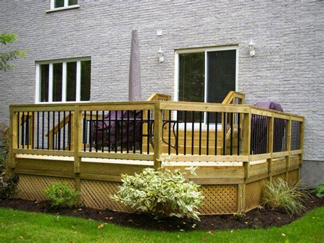 Deck Ideas For Backyard Awesome Backyard Deck Design