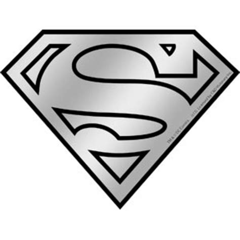 Red Black White Home Decor by Superman Logo Chrome Sticker
