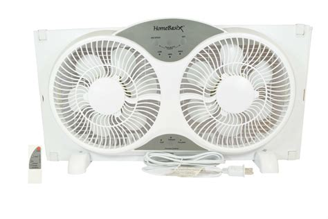 digital window fan homebasix bp2 9a white 9 inch reversible window fan with