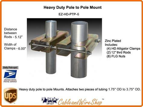 pole  pole antenna mast mount heavy duty ez hd ptp