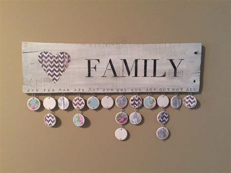 Family Birthday Calendar Family Birthday Calendar Ready To Ship