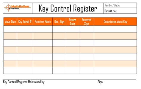 key log template key register