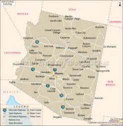 show me a map of arizona arizona state map az state map