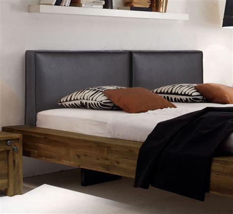 kopfteilbezug bett doppelbett schwebend aus akazie gefertigt penco