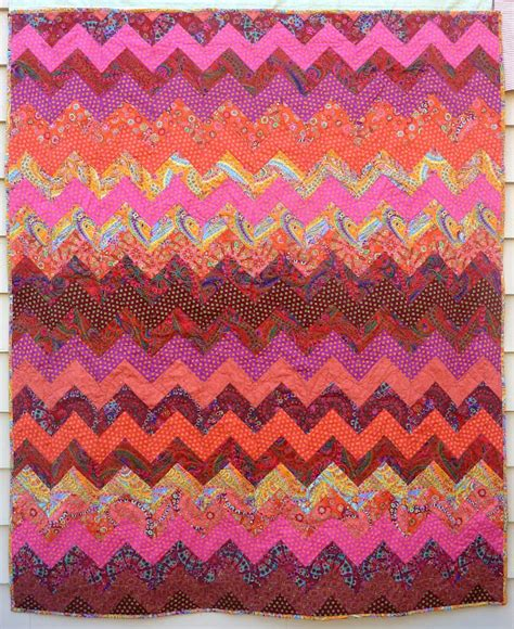 double zig zag quilt pattern summer s snippets double sided quilt completed for my