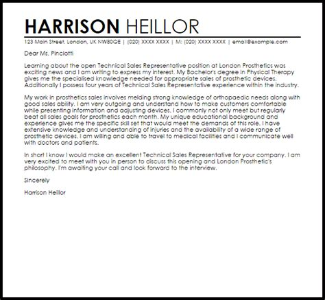 Great Cover Letter Sles Sales Representative Cover Letter Sles 13690