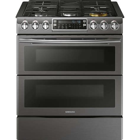 Samsung Range by Samsung Black Stainless Slide In Gas Range Nx58k9850sg