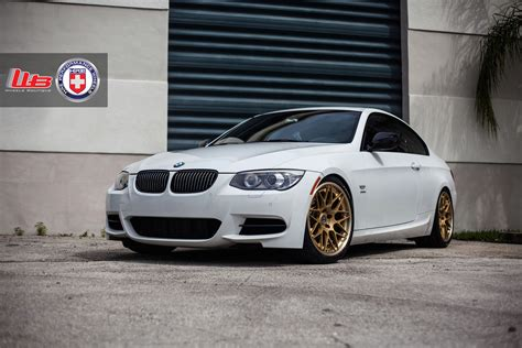 bmw 335is wheels classic looking alpine white bmw e92 335is with hre wheels