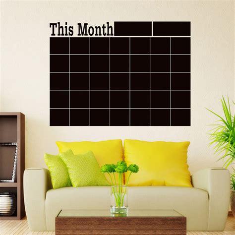 diy chalkboard decal monthly chalkboard blackboard wall sticker calendar