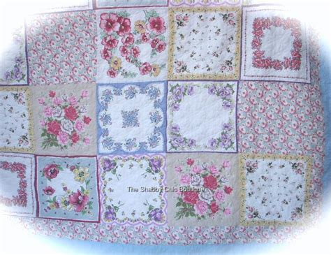 Cottage Patchwork - 7 king bed quilt set shabby vintage blue country