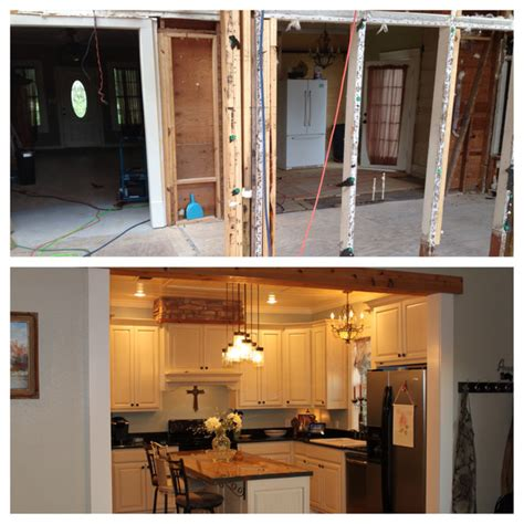 Kitchen Before And After Houzz Before And After Of Remodel Farmhouse Kitchen Other