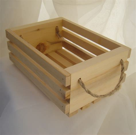 wooden gift basket with hemp twine handles yellow cedar wood great way to present your