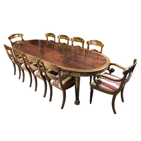 Antique Dining Table And Chairs Antique Mahogany Ormolu Dining Table And Ten Chairs For Sale At 1stdibs