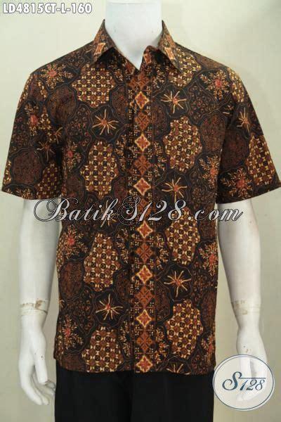 Baju Kerja Baju Jawa Basofi Rapih Banget pakaian batik lengan pendek motif klasik nan elegan baju batik jawa tengah halus dan adem
