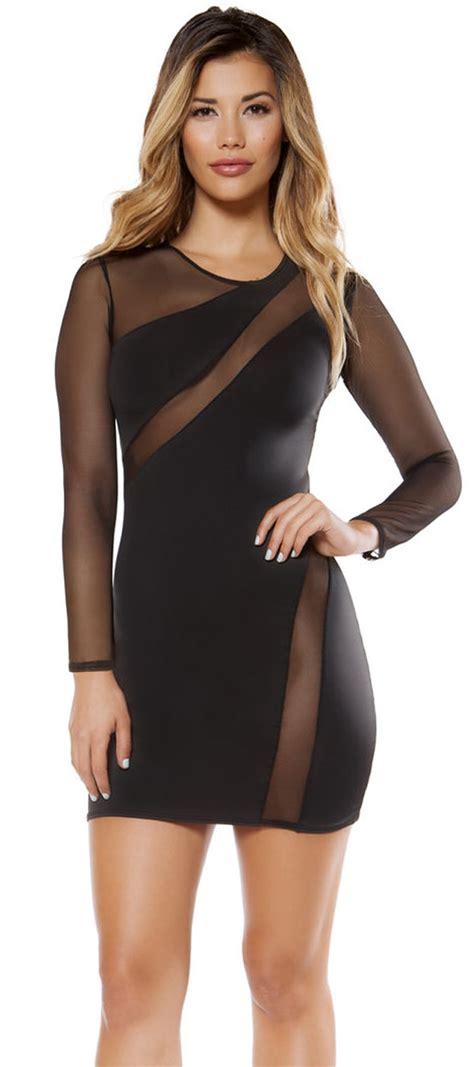 Sleeve Sheer Dress sleeved sheer mini dress black sheer mini dress 3340