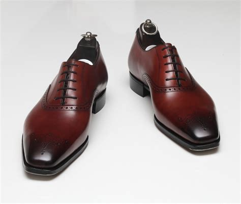Handmade Shoes Mens - handmade mens formal leather shoes maroon dress