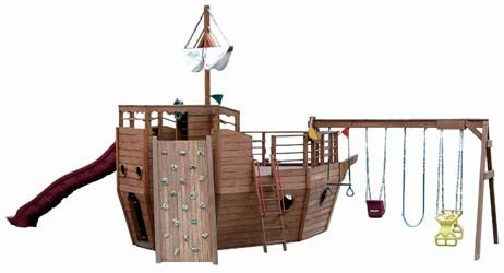 pirate ship swing set plans backyard billy s swingsets wood vinyl kid s playsets