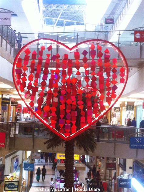 valentines day india s day decor at noida malls noida diary rediscover noida with us