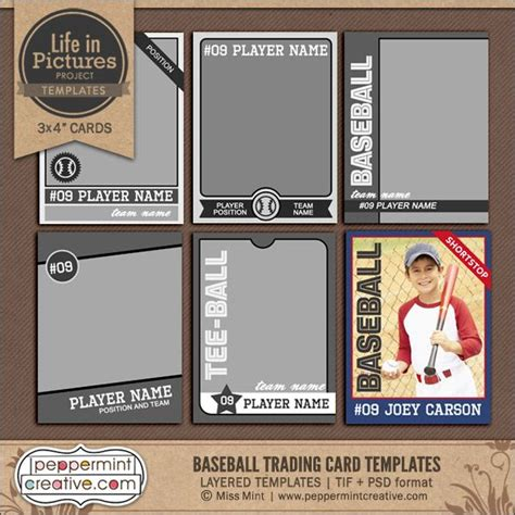 Free Sports Trading Card Templates by Best 25 Trading Card Template Ideas On