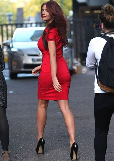 tight bodycon dress and black stiletto high heels