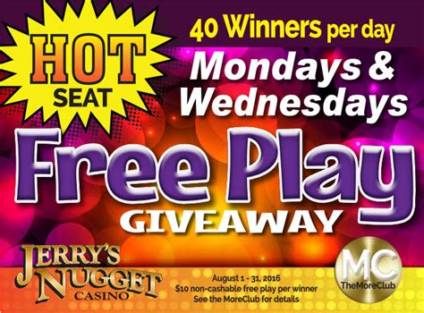 free play giveaway jerry s nugget - Free Game Giveaways