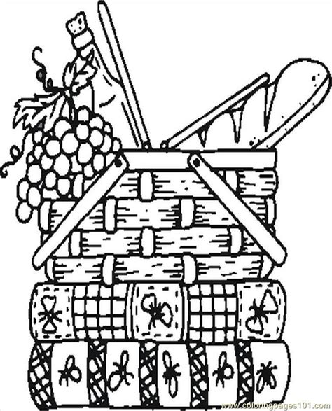free coloring pages of empty picnic basket