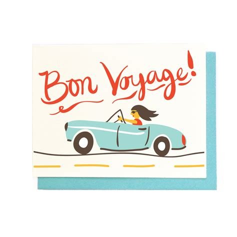 bon voyage greeting card template bon voyage card best wishes traveling illustrated