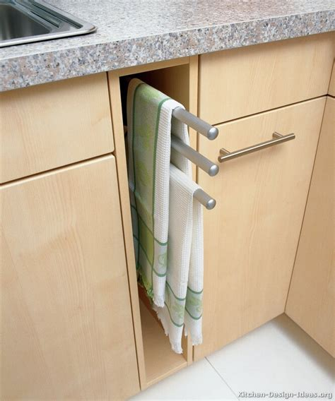 kitchen cabinet towel holder pictures of kitchens modern light wood kitchen