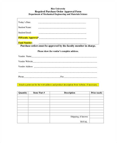 Purchase Order Approval Letter Purchase Order Sle Purchase Order Template Purchase Order Sle Free Layout Format
