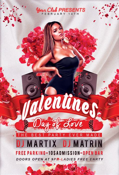 valentines day flyer template free free s day flyer psd template designssave