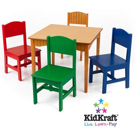 kidkraft table with primary benches kidkraft nantucket table 4 primary chairs 26121