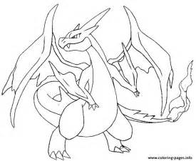 mega pokemon evolved pokemon charizard coloring pages printable