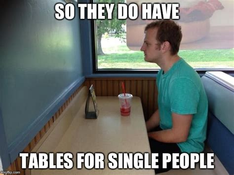 Single People Memes - forever alone booth imgflip