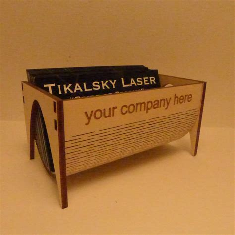 Wooden Business Carder Custom Laser Cut Corporate Items P Case Plans Etsy Wood Free New Laser Laser Cut Business Card Holder Template
