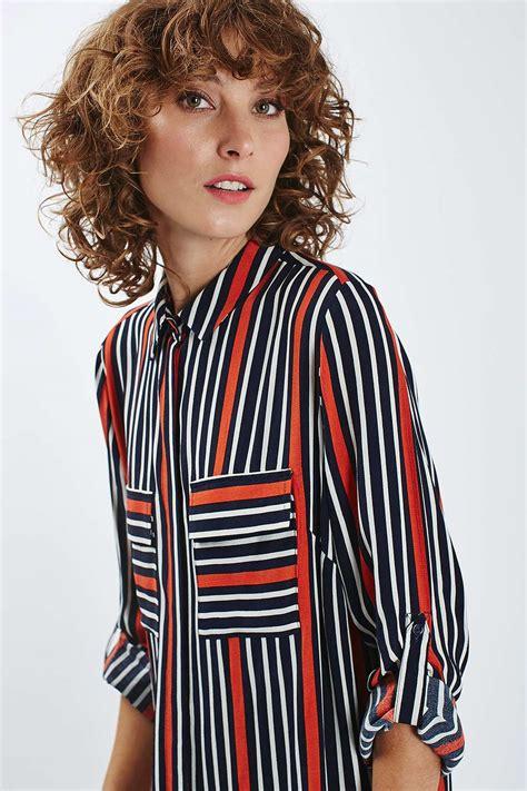 Stripe Oversized Shirt oversized stripe shirt dress topshop