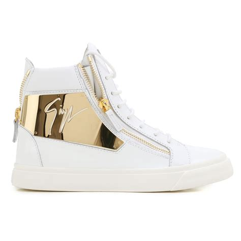 sneakers white gold giuseppe zanotti design sneakers white gold shoes
