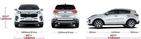Kia Sportage Dimensions by Sportage Specs Suv Mpv Kia Motors Philippines