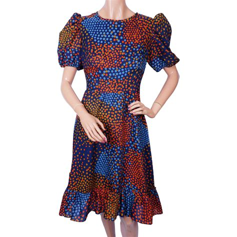 dot pattern clothes vintage 60s dress geometric dot pattern daymor couture