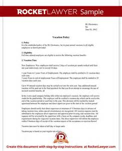 paid time policy template vacation policy template with sle