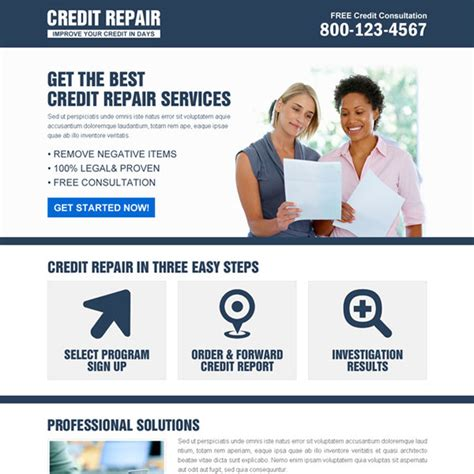 Credit Repair Templates Landing Page Design Templates For Lead Business Marketing Conversion Page 51
