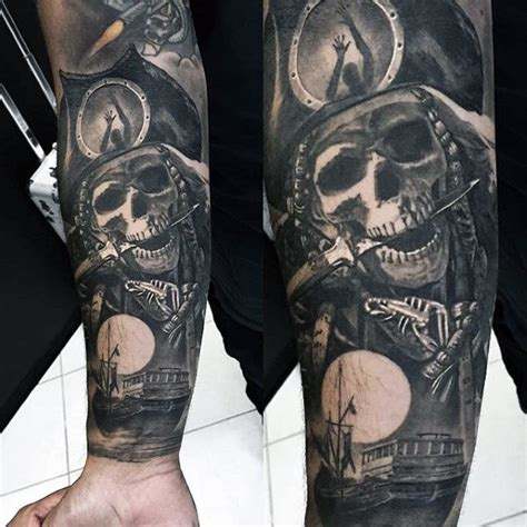 pirate tattoo sleeve 75 sweet tattoos for cool manly design ideas