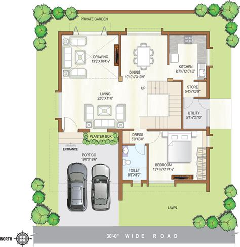 Sq Ft To Gaj 45 x 45 house plans house plans